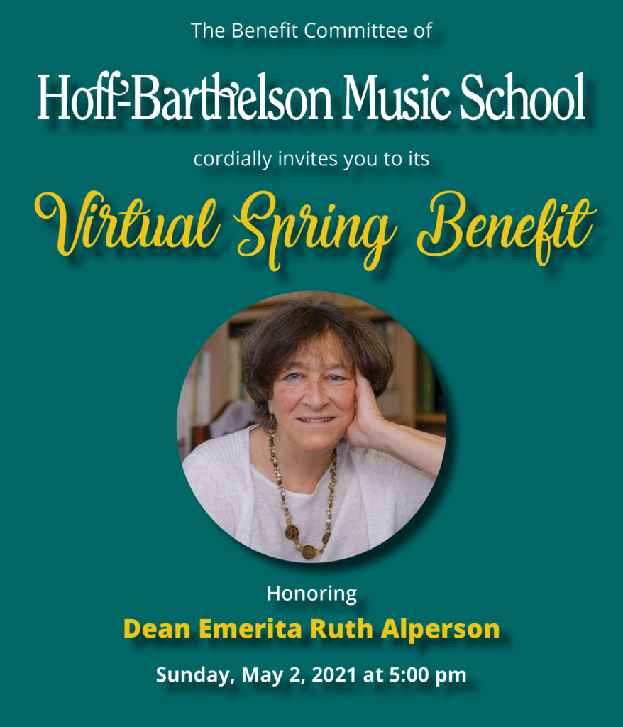 2021 Spring Benefit honoring Ruth Alperson