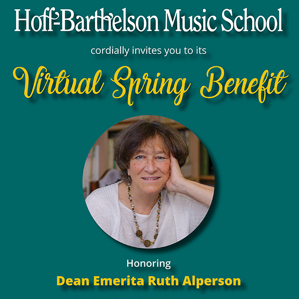 2021 Virtual Benefit Honoring Ruth Alperson