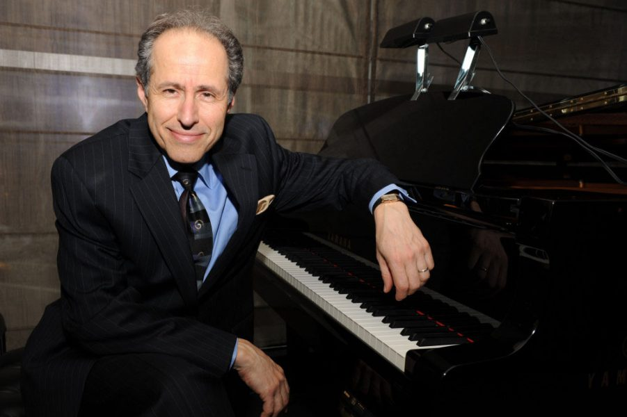 Michael Boriskin at the piano for Adult Lecture Series at Hoff-Barthelson Music School
