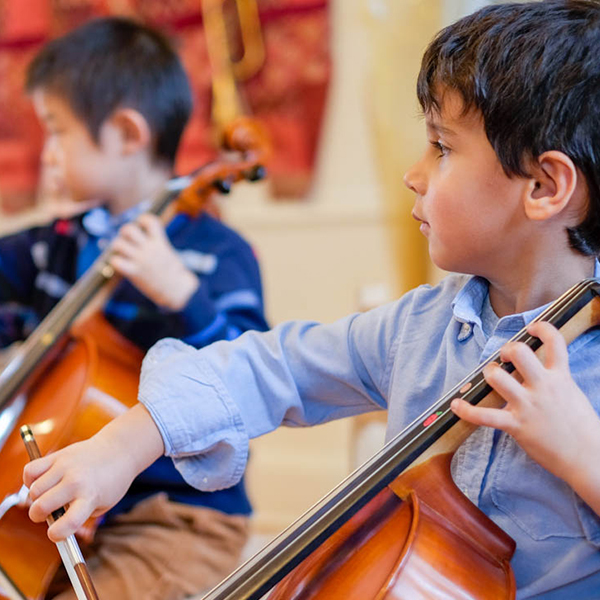 Young cellists